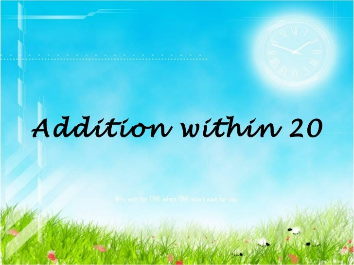 Addition within 20