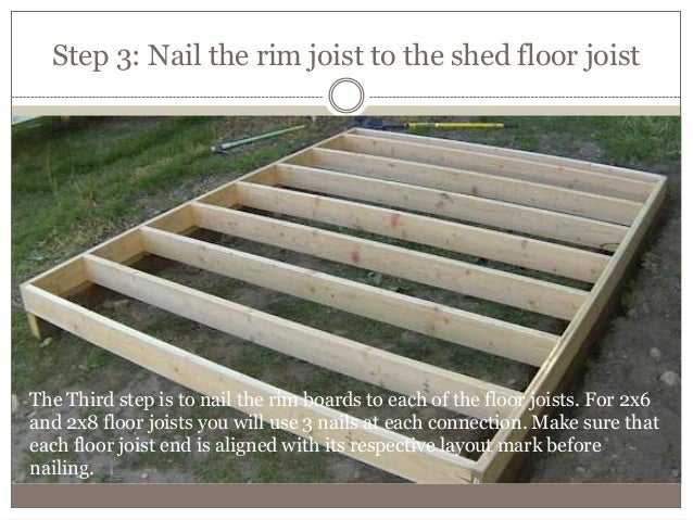 2 How To Build A Shed Floor