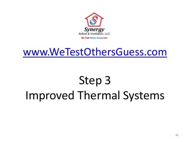 Step 3 - Improved Thermal Systems of the Seven Steps of Building a Synergy Home