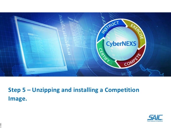 Step5   unzipping and installing a competition image