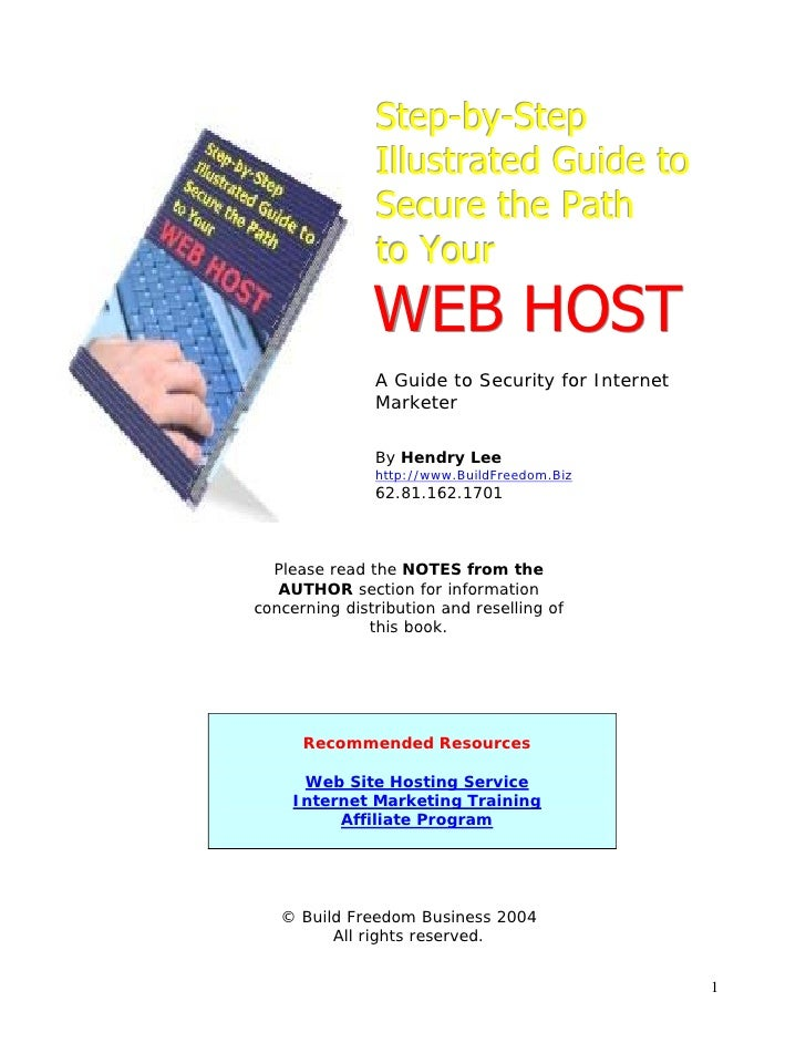 Step-by-Step                Illustrated Guide to                Secure the Path                to Your                WEB ...