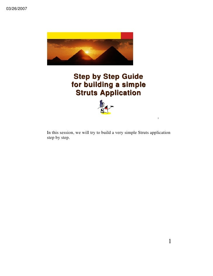 03/26/2007                                Step by Step Guide                           for building a simple              ...