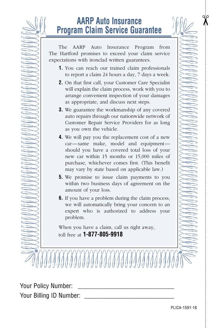 ¢                   AARP Auto Insurance             Program Claim Service Guarantee              The AARP Auto Insurance P...