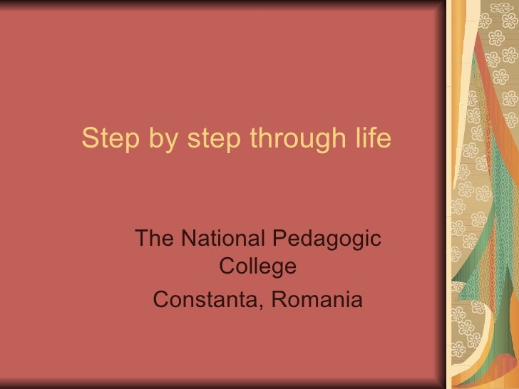 Step by step through life.ppt