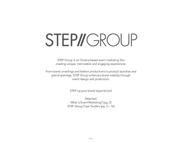 STEP Group is an Omaha-based event marketing firm       creating unique, memorable and engaging experiences.From brand unv...