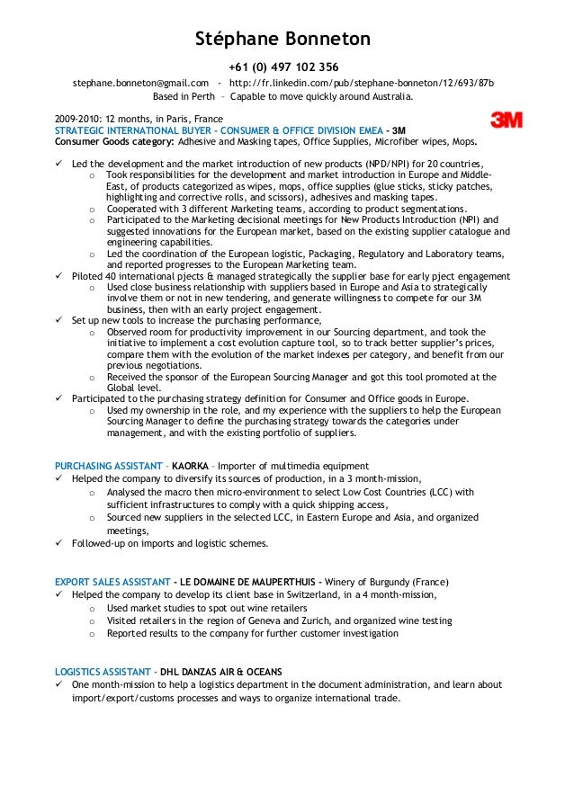 Senior Buyer Resume Examples