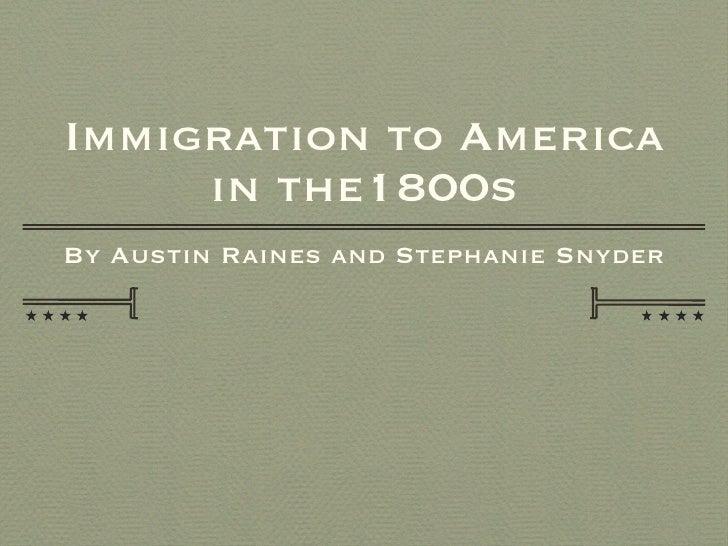 2011 AP US PP - 1800 - 1850 Immigration
