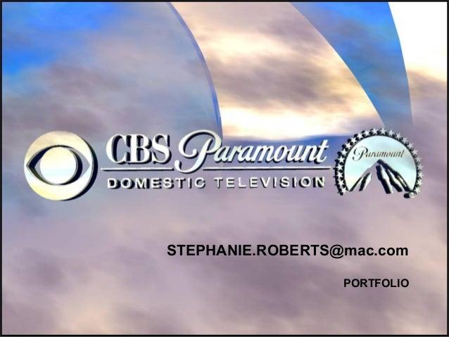 STEPHANIE.ROBERTS@mac.com PORTFOLIO