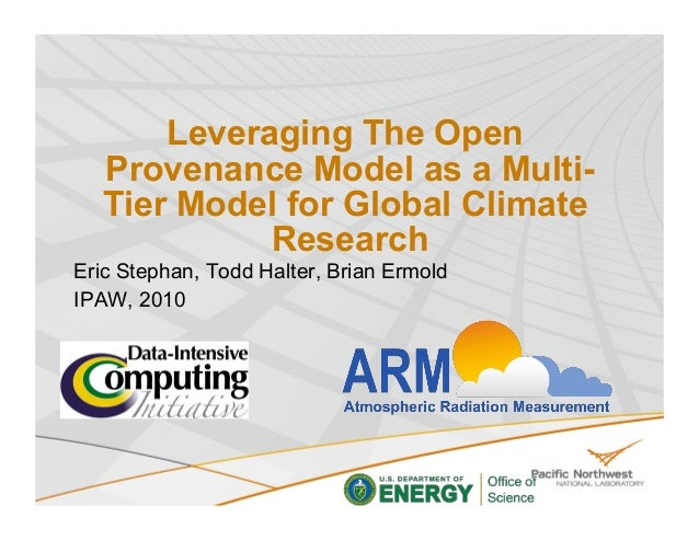 Leveraging The Open Provenance Model as a Multi-Tier Model for Global Climate Research