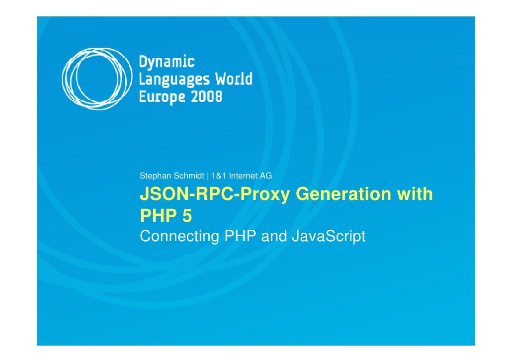 JSON-RPC Proxy Generation with PHP 5