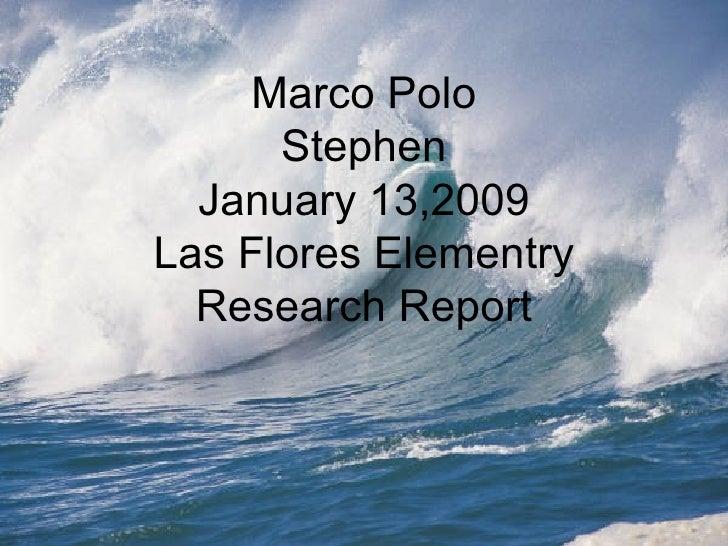 Stephen Explorer Report