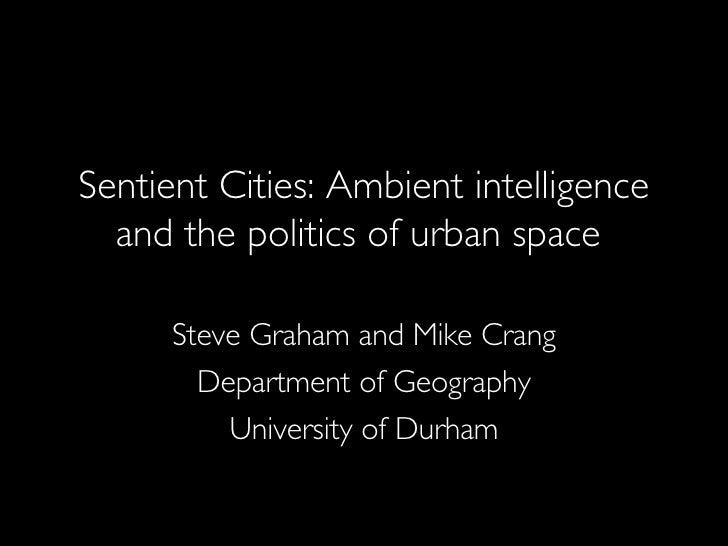 Stephen Graham - Sentient Cities