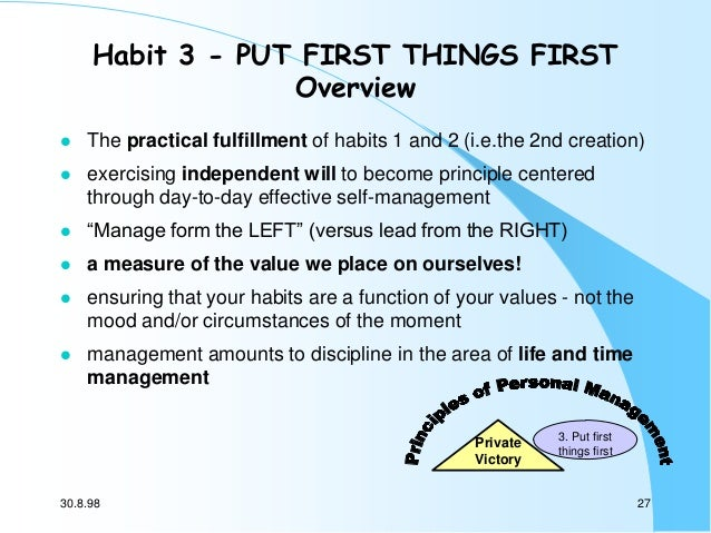 essays on the 7 habits of highly effective people Summary entitled the 7 habits of highly effective people powerful lessons in personal change, the book in question provides something of a simplistic approach to the.