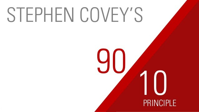90 PRINCIPLE 10 STEPHEN COVEY'S