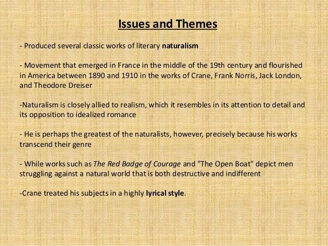 Stephen Crane naturalism short stories