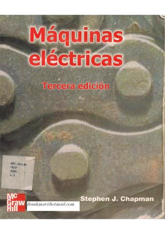 Stephen j chapman maquinas electricas 3ed en español