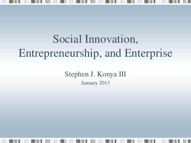 Stephen Konya - Social Innovation