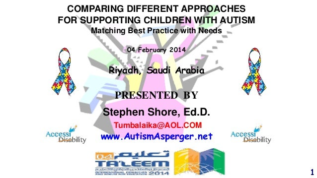 COMPARING DIFFERENT APPROACHES FOR SUPPORTING CHILDREN WITH AUTISM Matching Best Practice with Needs 04 February 2014  Riy...