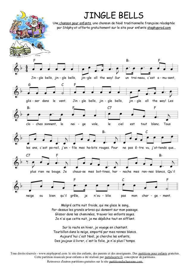 partition chanson de noel