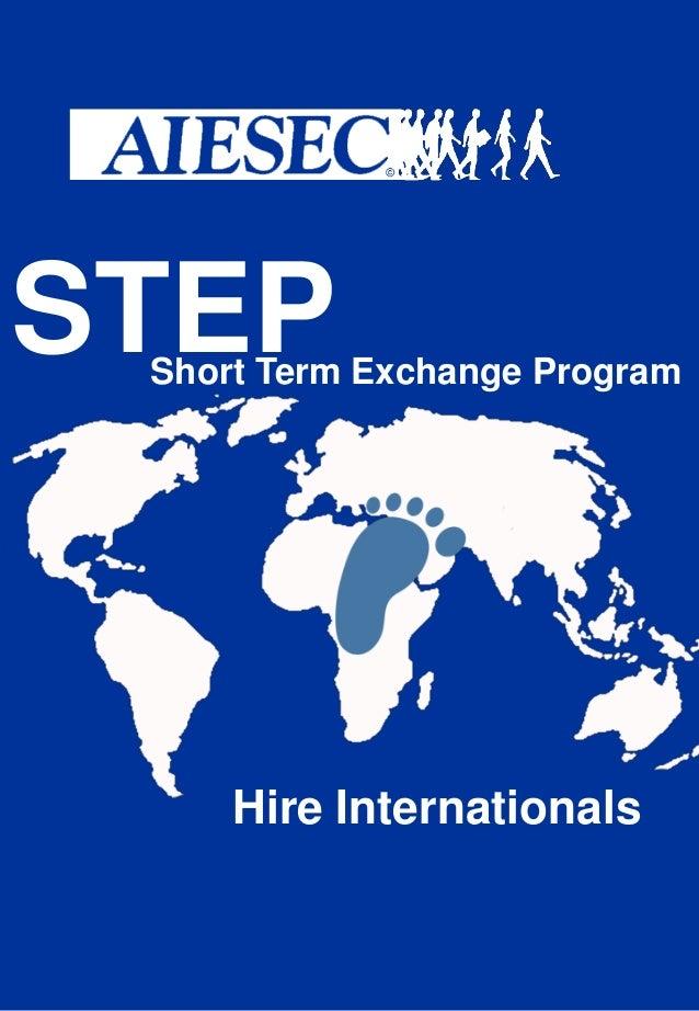 STEP  Short Term Exchange Program  Hire Internationals