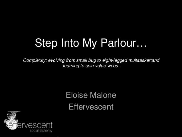 Step into my parlour   Eloise Malone