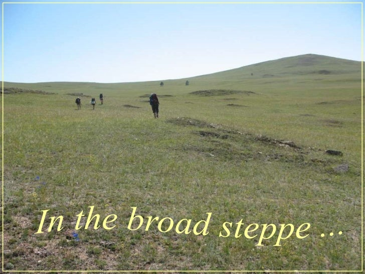 In thebroadsteppe ...<br />