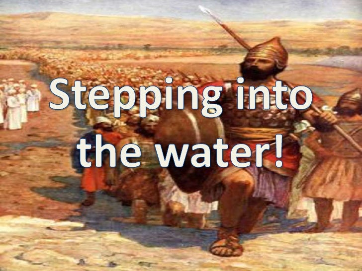 Stepping into <br />the water!<br />