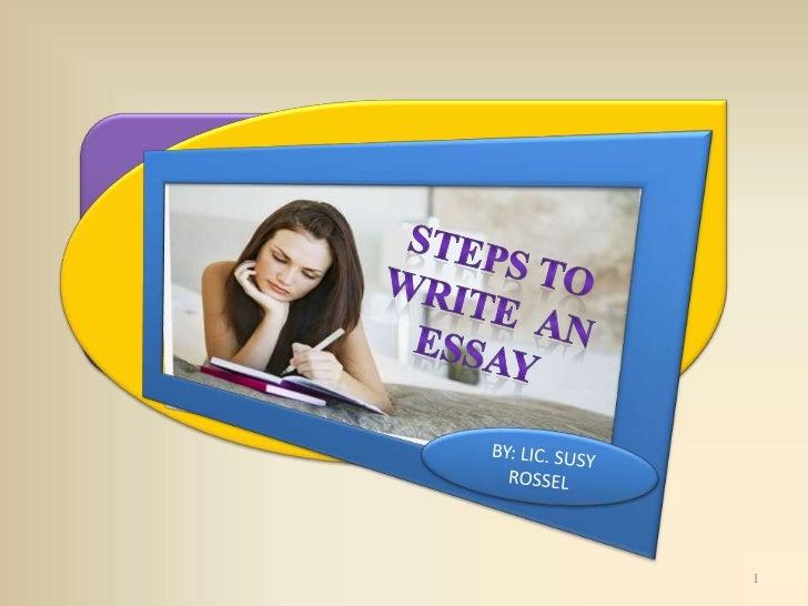 Steps to write an essay