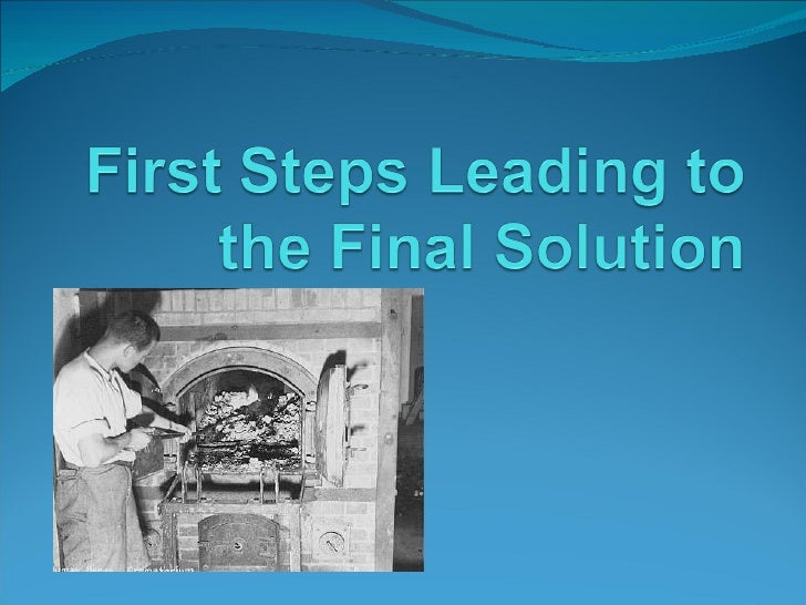 Steps Leading to the Final Solution