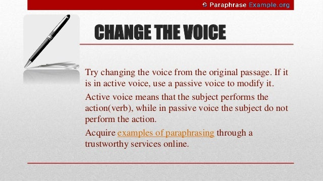 Paraphrasing dictionary