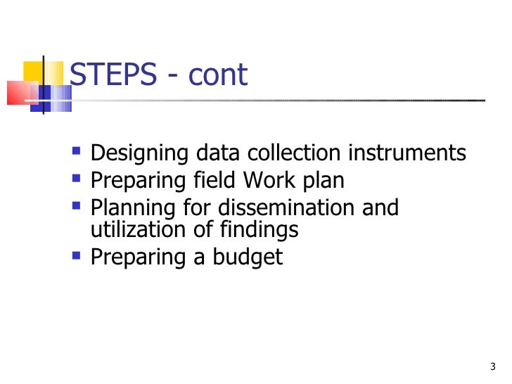 Steps for research proposal