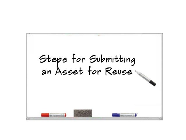 Steps for submitting an asset for reuse