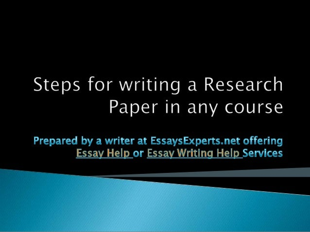 Help to writing a research paper get it published