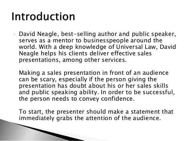 Effective sales presentation