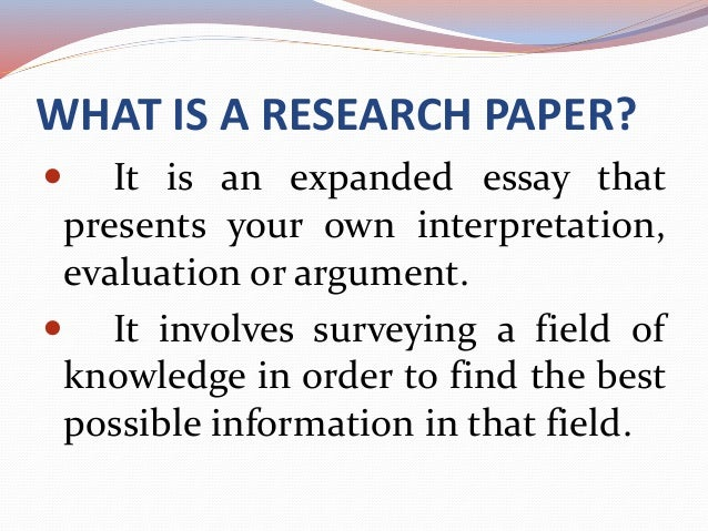 Steps of research paper