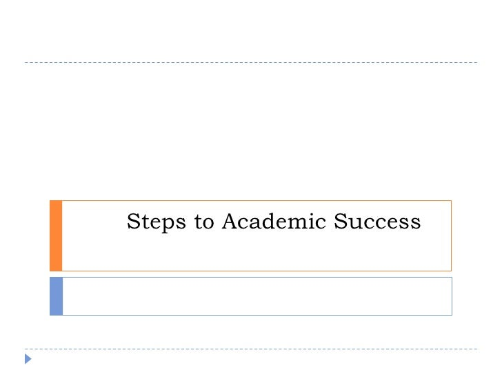 Steps to academic_success