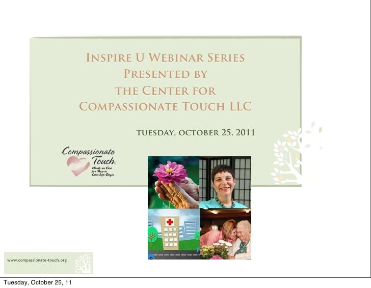 Inspire U Webinar Series                                      Presented by                                    the Center f...