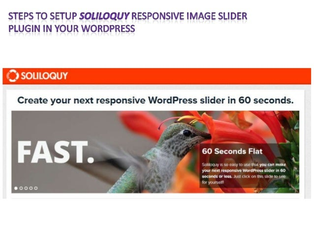 Steps to setup soliloquy responsive image slider plugin in your word press