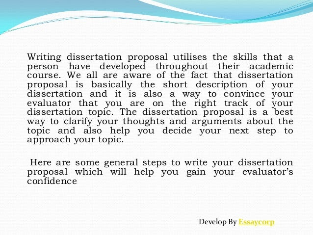 How to write dissertation proposal word