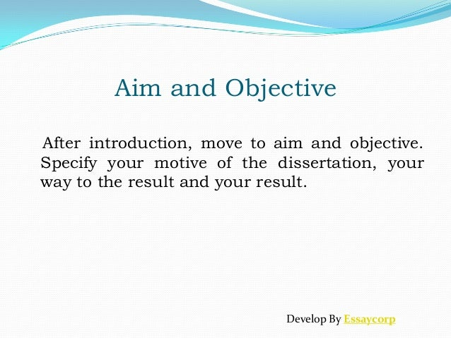 comapring aims and objectives essay