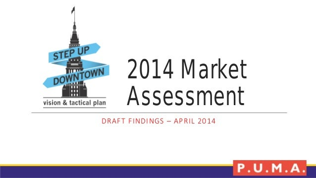 2014 Market Assessment DRAFT FINDINGS – APRIL 2014