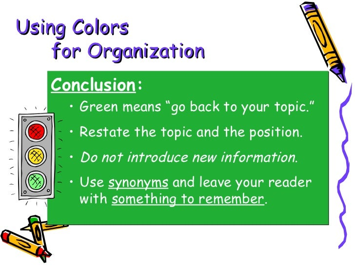 Steps to writing a conclusion