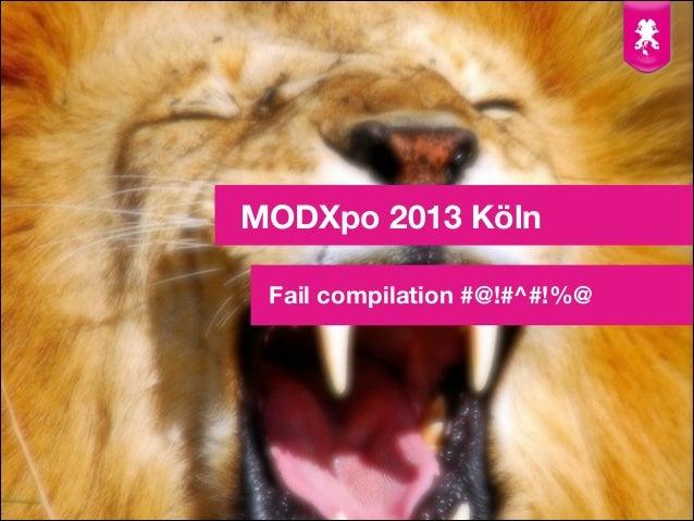 MODXpo 2013 - Fail compilation