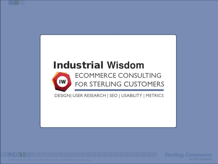 Industrial Wisdom                                                             ECOMMERCE CONSULTING                        ...