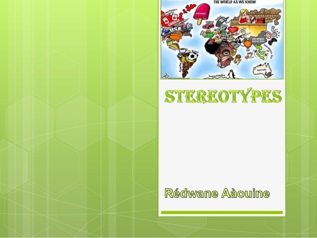 Stereotypes by rédwane aàouine