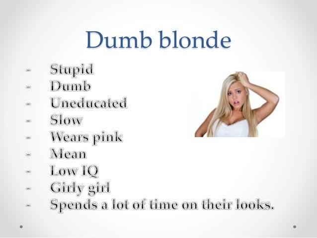 blonde stereotyping essays