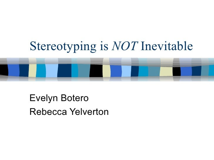 Stereotyping presentation1