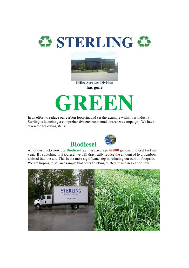 Sterling Goes Green