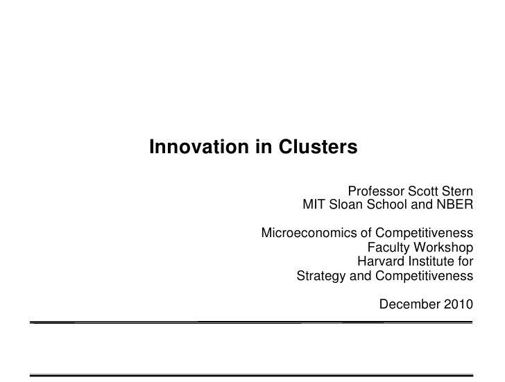 Scott Stern: Innovation in Clusters