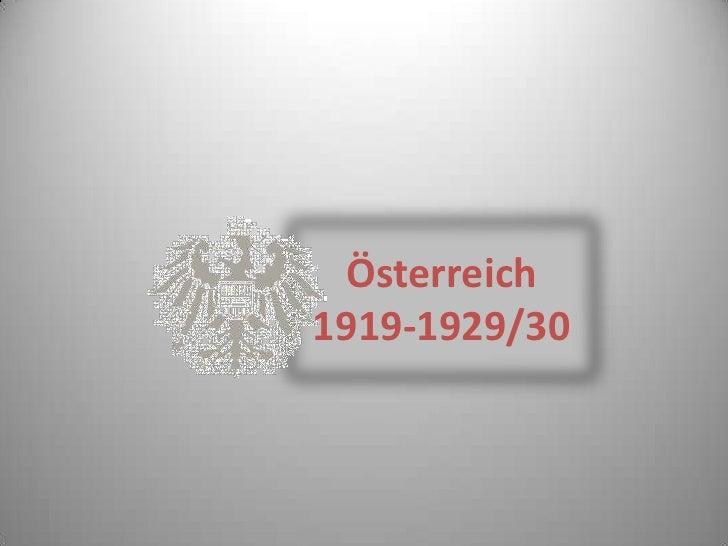 Österreich1919-1929/30<br />